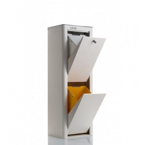 Cubo de basura y reciclaje cubek 2 3 o 4 compartimentos for Cubos de reciclaje ikea