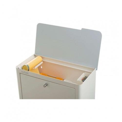 Cubo de basura y reciclaje cubek blanco 2 compartimentos - Cubos basura reciclaje ...