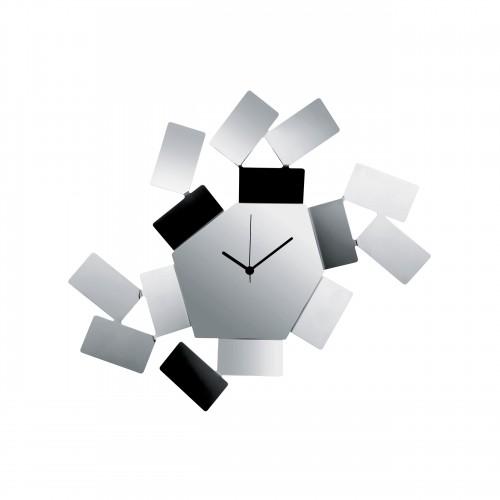 Reloj de pared en acero inoxidable Alessi