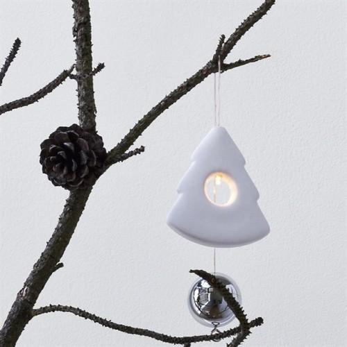 Arbol colgante porcelana con luz