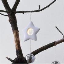 Estrella colgante porcelana con luz