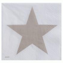 Servilleta papel  estrella taupe