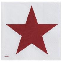 Servilleta papel  estrella granate