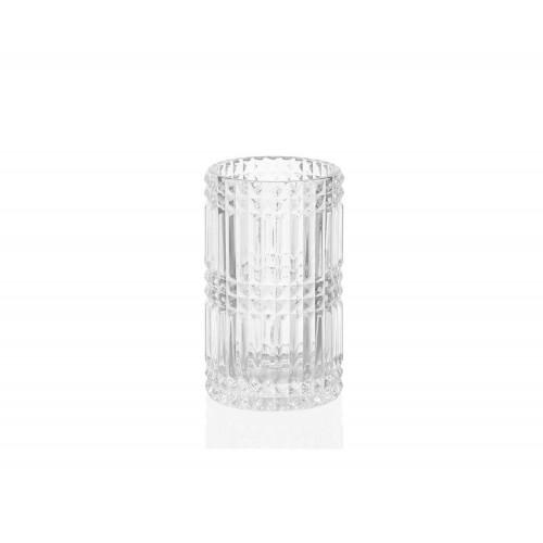 """Portacepillos cilíndrico de vidrio """"Diamond"""""""