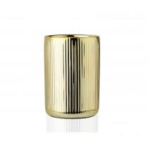 Portacepillos de cerámica dorado