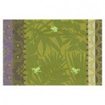 Le Jacquard Francais Bahia jungle - Manteles individuales(36 x 50 cm) verde