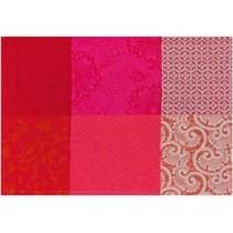 Le Jacquard Francais Fleurs de kyoto(36 x 50 cm) rojo