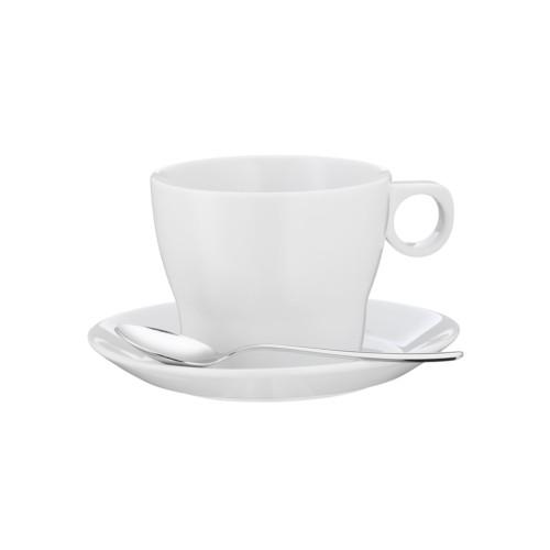 Taza caf con leche con plato barista 7 5 cm wmf for Capacidad taza cafe con leche