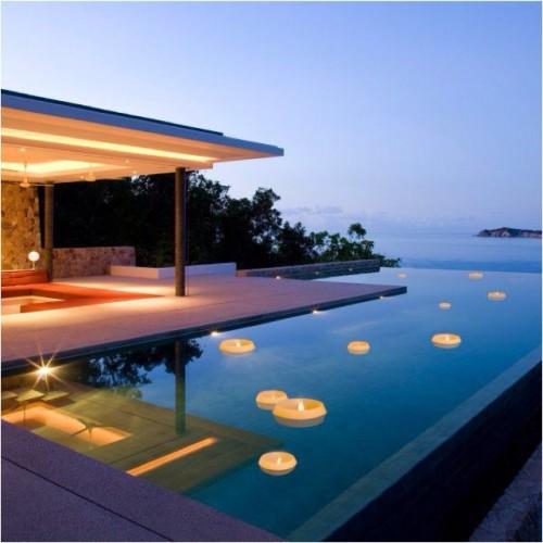 Vela flotante piscina peque a - Velas para piscinas ...